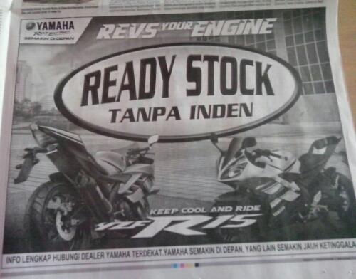 Yamaha YZF R15 tanpa indent, sudah seharusnya waspadai kompetitor!!