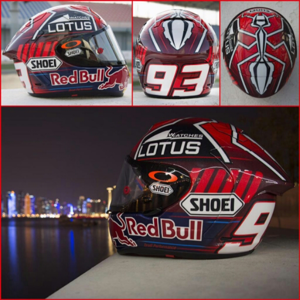 marc marquez 2015 helmet no ant s cartoon logo motorrio. Black Bedroom Furniture Sets. Home Design Ideas