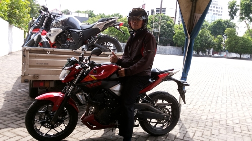 Yamaha MT 25 tes ride