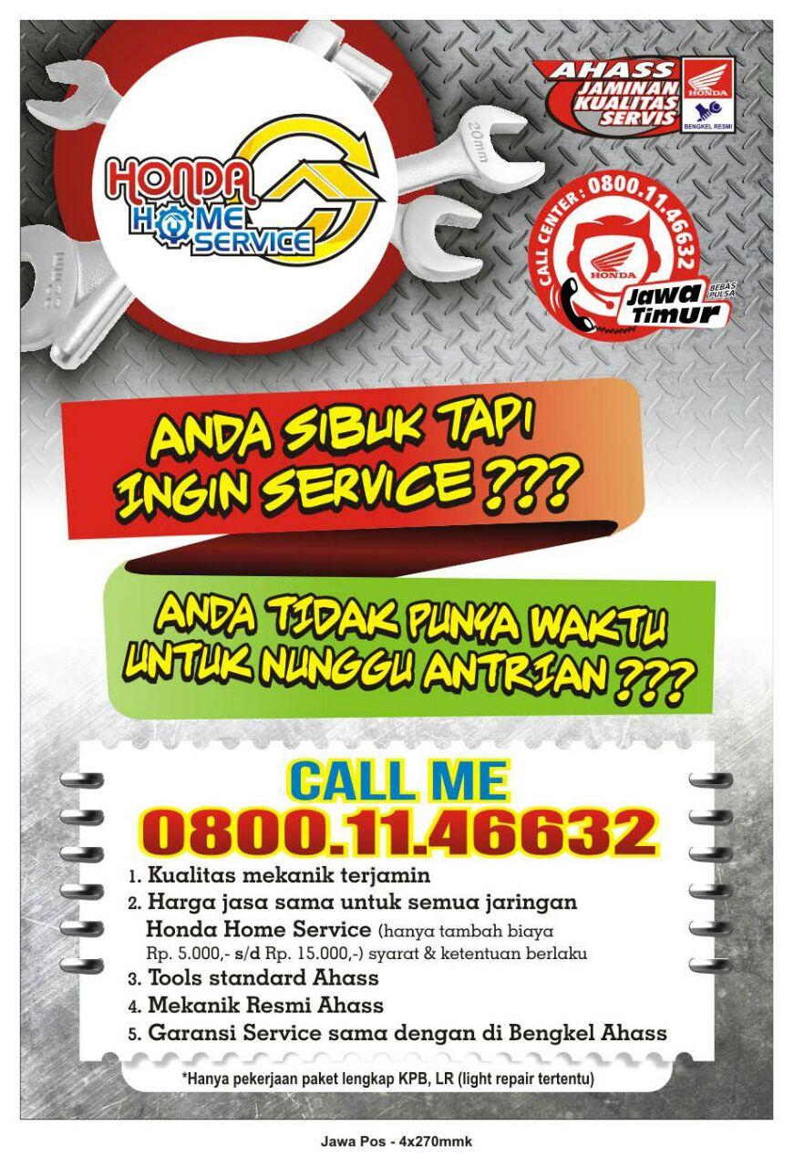 Honda Home Service Solusi Buat Yang Sibuk