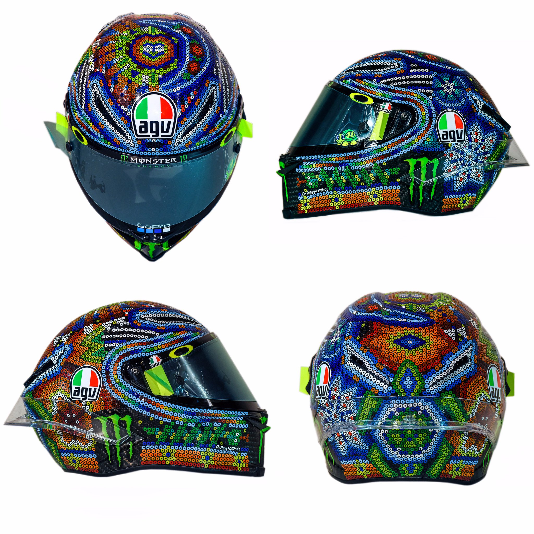 rossi winter test helmet 2018 mexican style motorrio. Black Bedroom Furniture Sets. Home Design Ideas