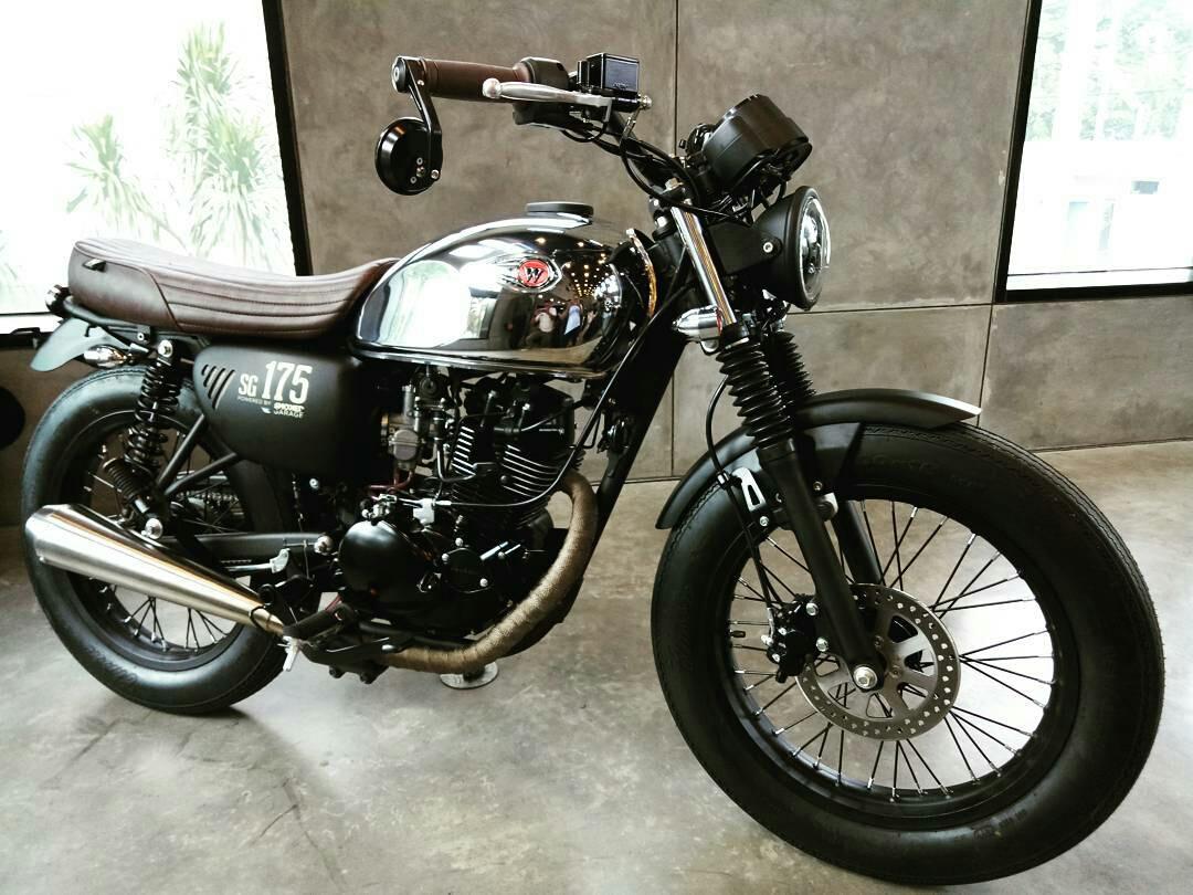 Kawasaki W175 Brat Style Bukti Kalau W175 Mudah Dimodifikasi Motorrio