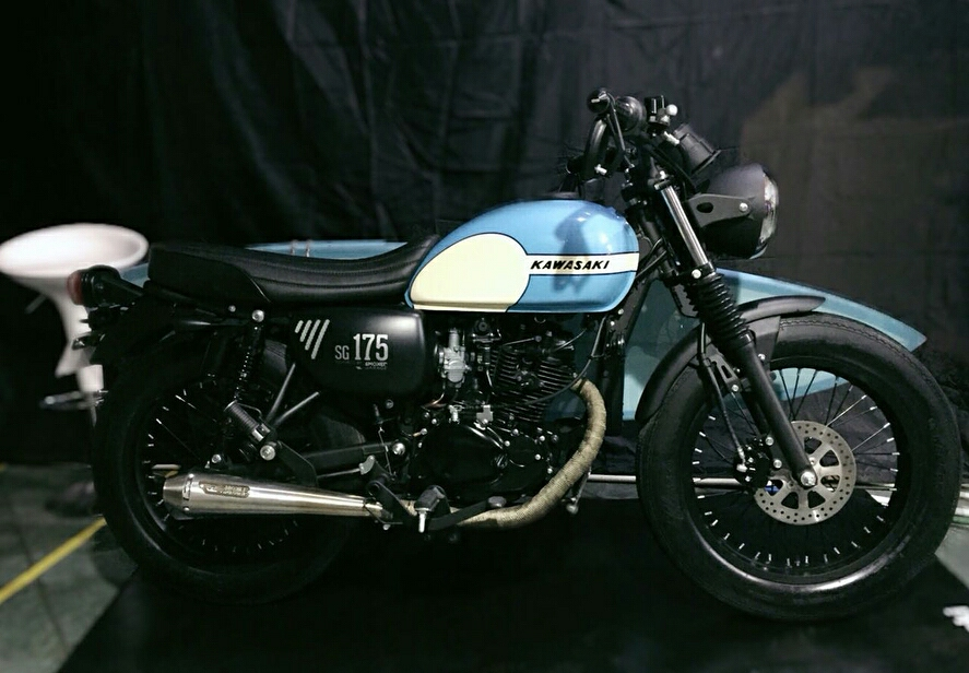 Kawasaki Launched W175 Customized By Smoked Garage Call It Sg 175